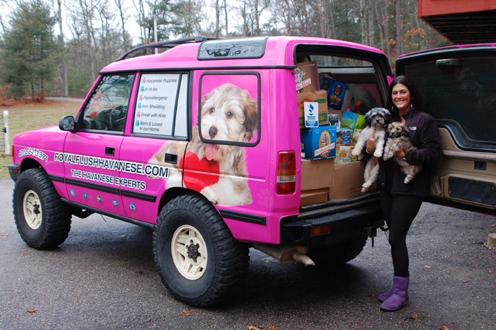 RI Dog Breeder Collects Food and Financial Donations for RICAN Royal Flush Havanese Collects Over 4000 Canned Goods